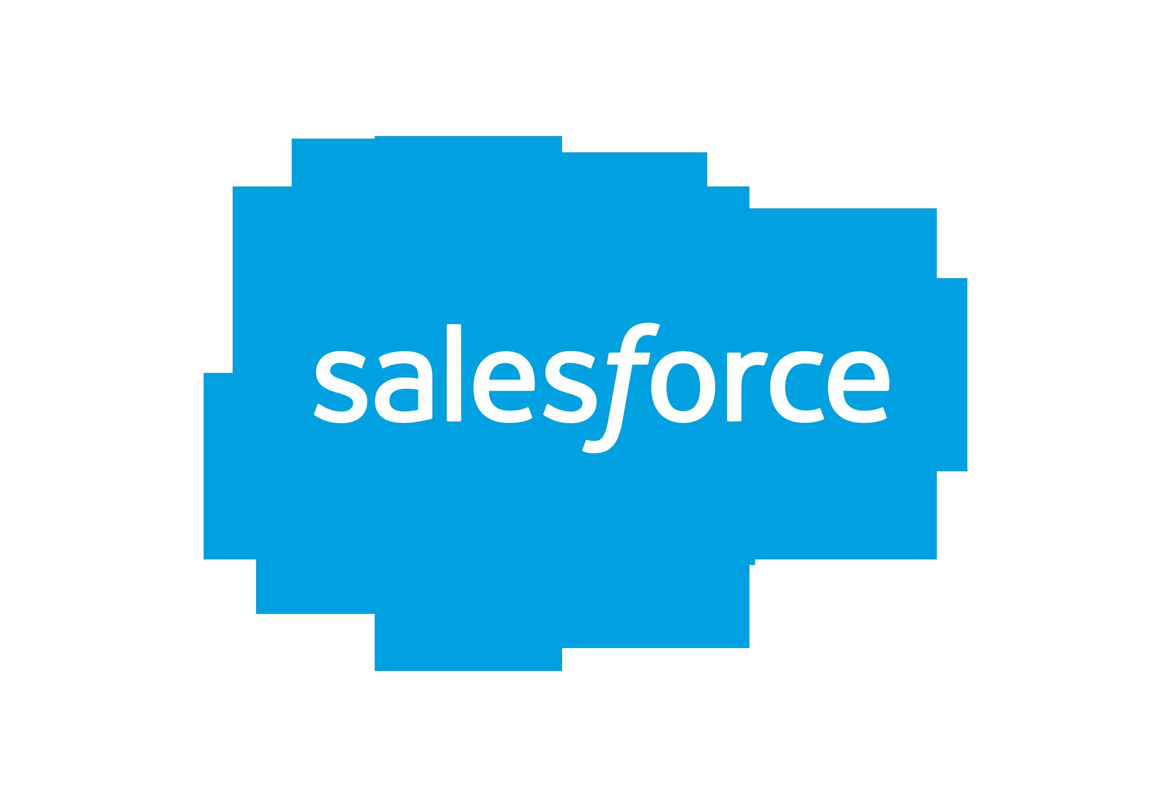 Salesforce nieuw logo transparant