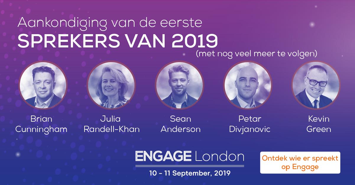 Aankondiging sprekers Engage London 2019