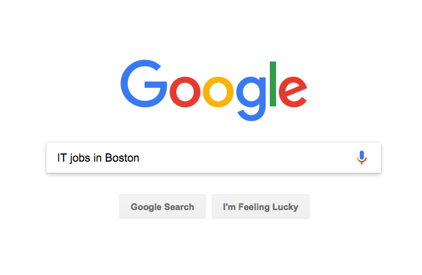 Google Search: IT Jobs in Boston