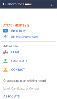 Bullhorn for Email ATS Feature