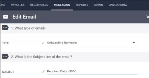 Reminder Email Onboarding