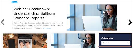 Bullhorn product updates on the customer blog