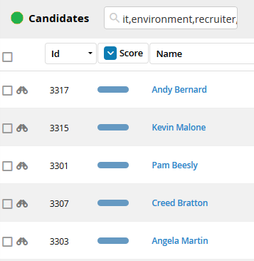 Matching Candidates Bullhorn