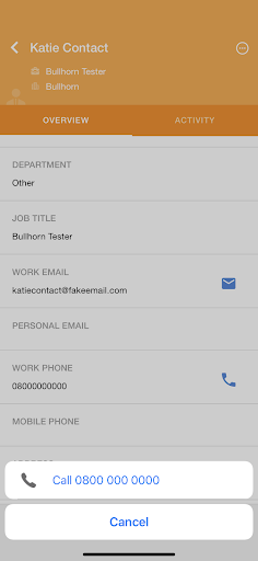 mobile applicant tracking system click to dial