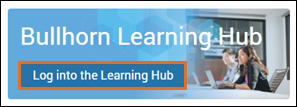 Bullhorn Learning Hub Login Step 3