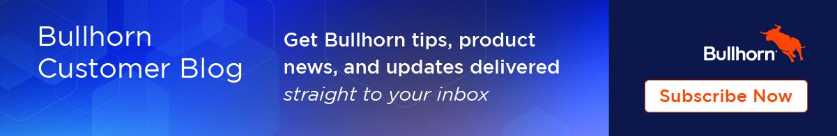 Bullhorn Customer Blog Subscription